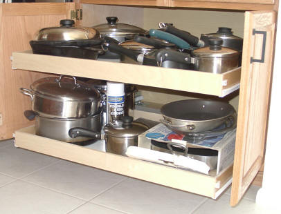 Space Saving Pullout Shelves That Slide Custom Pull Out Kitchen - Sliding shelves for kitchen cabinets